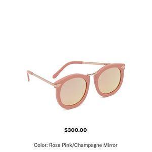 New Karen Walker super lunar pink&gold sunglasses